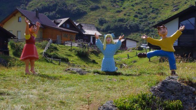 Heidi mit Klara und Peter
