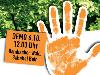 Demonstration für den Hambacher Forst