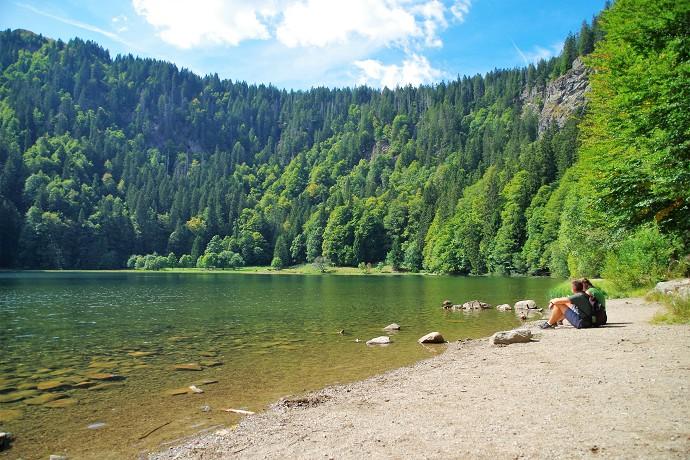 Ein idealer Ort um Pause zu machen und die Naturkulisse zu genießen.